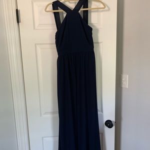 Lulu's Dresses - Navy blue maxi dress. Perfect for bridesmaid!